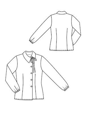 Blusa asimétrica Burda