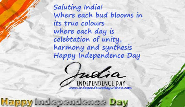 Indian Independence Day wishes in English