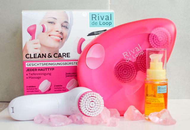 Die Gesichtsreinigungsbürste von Rival de Loop mit dem RdeL Revital Q10 Gesichtsöl