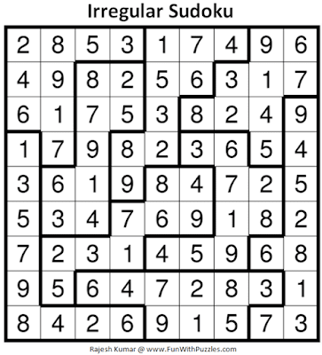 Answer of Irregular Sudoku Puzzle (Fun With Sudoku #355)