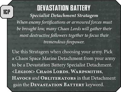 Devastation Battery Iron Warriors