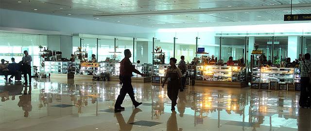 Yangon Airport Departure Hall