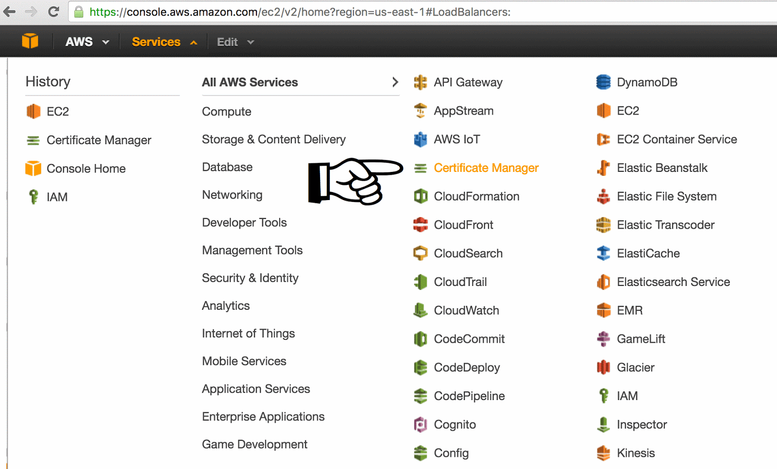 Amazon aws free ssl certificates and renewals acm amazon certificate manager xflitez Image collections