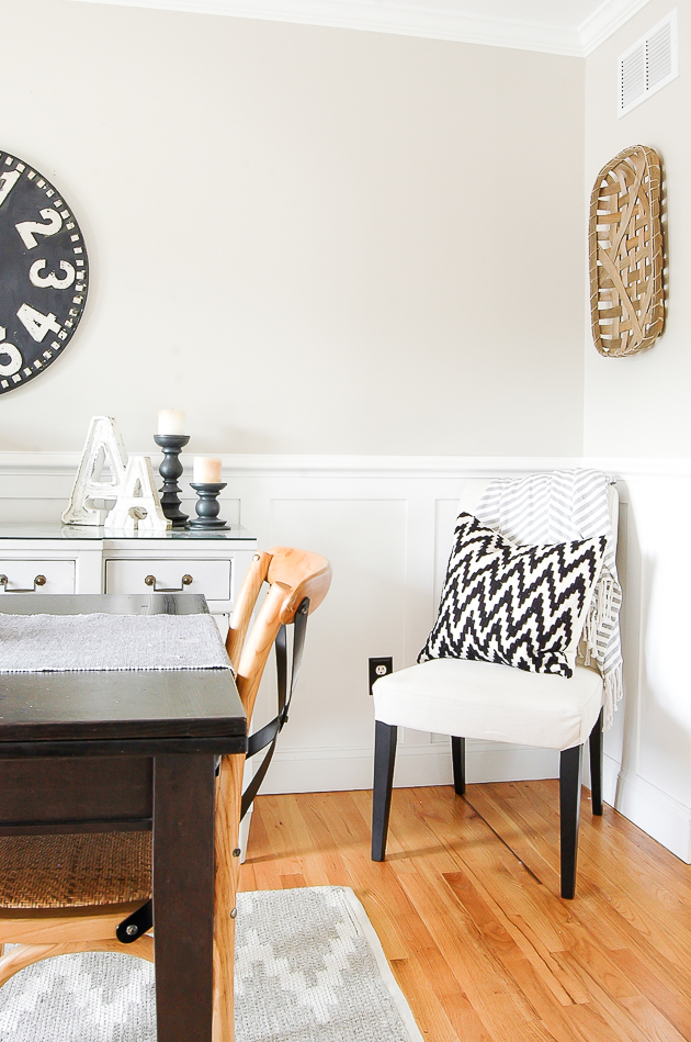 modern farmhouse dining room, tobacco basket, hobby lobby