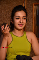 Actress Catherine Tresa Pos during Self Dubbing for Gautham Nanda Movie  0074.JPG
