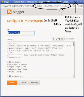 How to Find Blogger Widget ID and Section ID