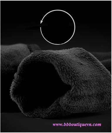 Quần bầu lót lông BBBoutique cạp chéo màu đen