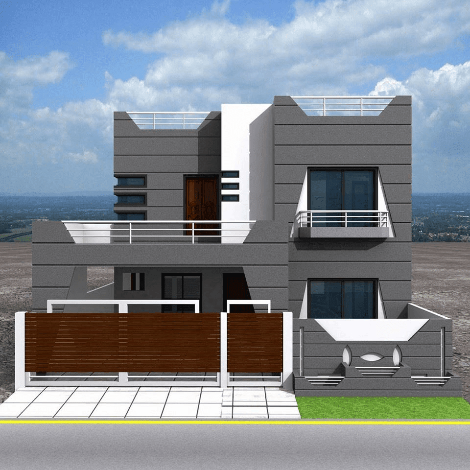 House Front Elevation With Gate : Home elevation wallpaper