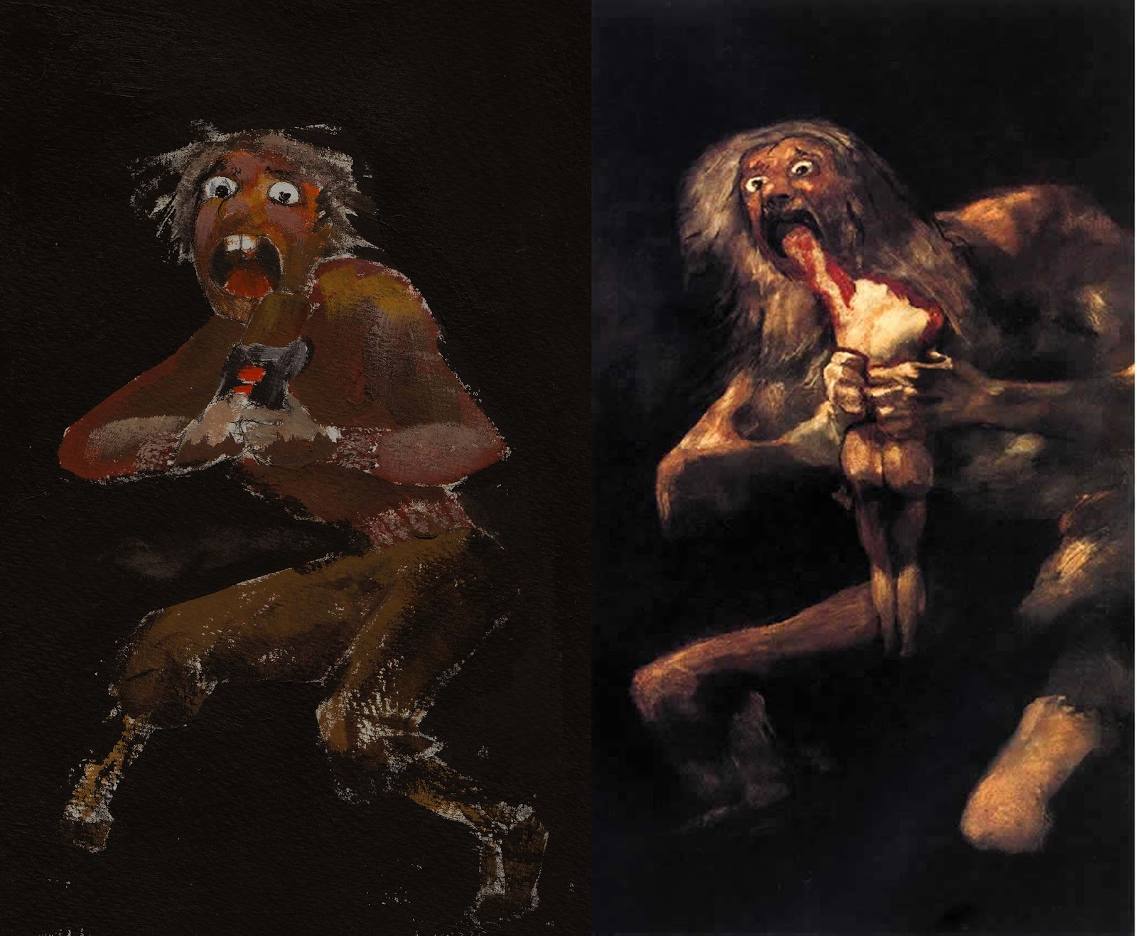romanticism goya and saturn devouring his Goya's life born 30 march 1746- 16 april 1828 a spanish romantic painter goya is considered the most light and color, saturn devouring one of his.