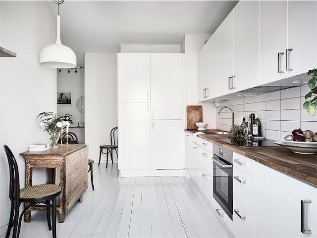 cocina escandinava blanca chicanddeco