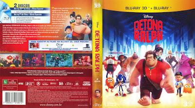 Filme Detona Ralph 3D DVD Capa