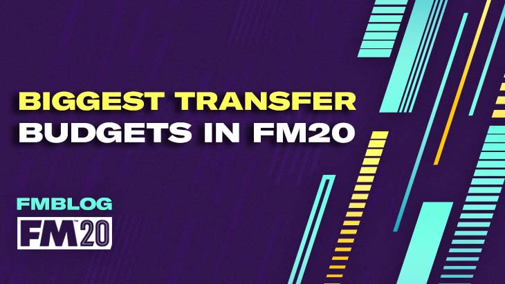Biggest Transfer Budgets in FM20