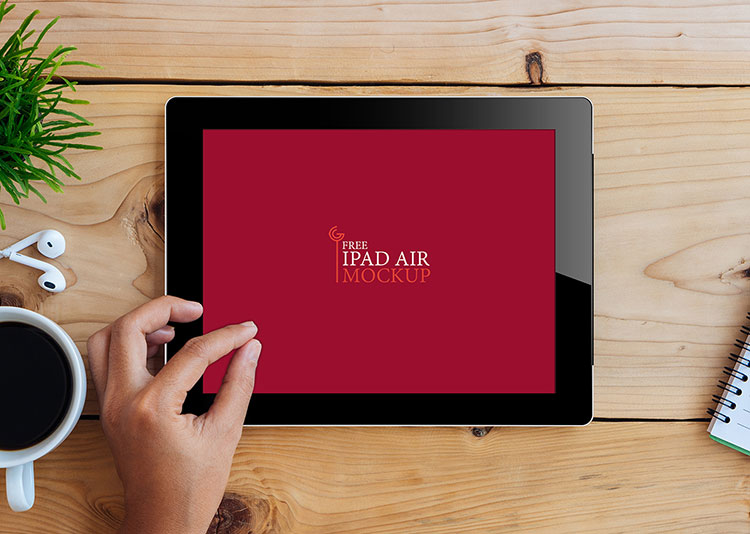 Free iPad Air Mockup PSD