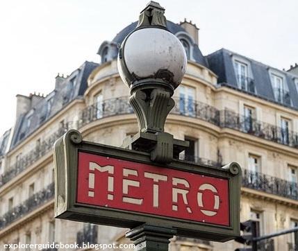 peta jalur naik kereta metro di paris metro line station