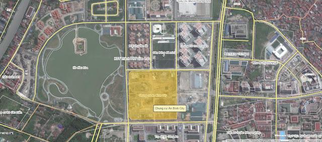 Bản đồ Vệ Tinh Chung cư An Bình City