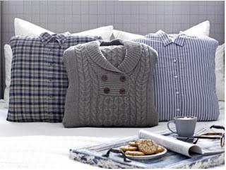 cómo hacer cojines bonitos, cómo hacer forros para cojines, reciclar camisas, blusas