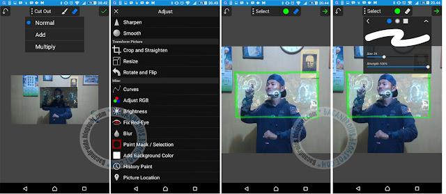 Hologram Ironman di PicSay Pro Android