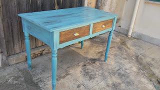 Restauro trasformazione tavolo scrivania vintage shabby chic