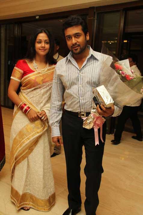 TAMIL CINEMA NEWS: Surya and Jyothika in Sneha Reception