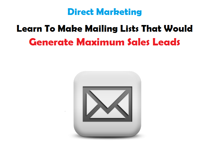 Direct marketing and mailing list making