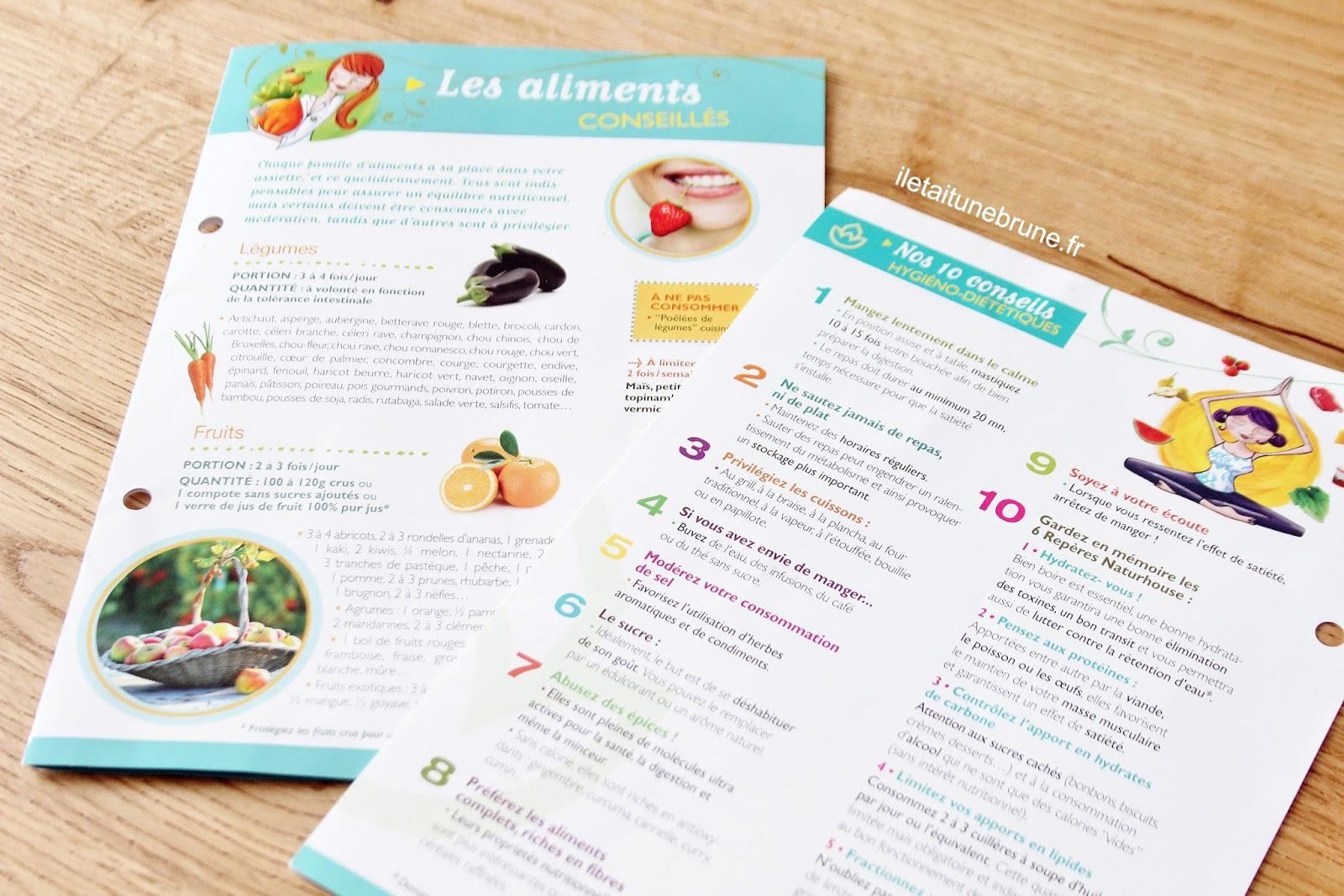 fiches aliments programme natur house avis un mois