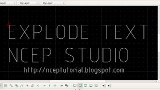 CAD Explode Text - Expor import SketchUp