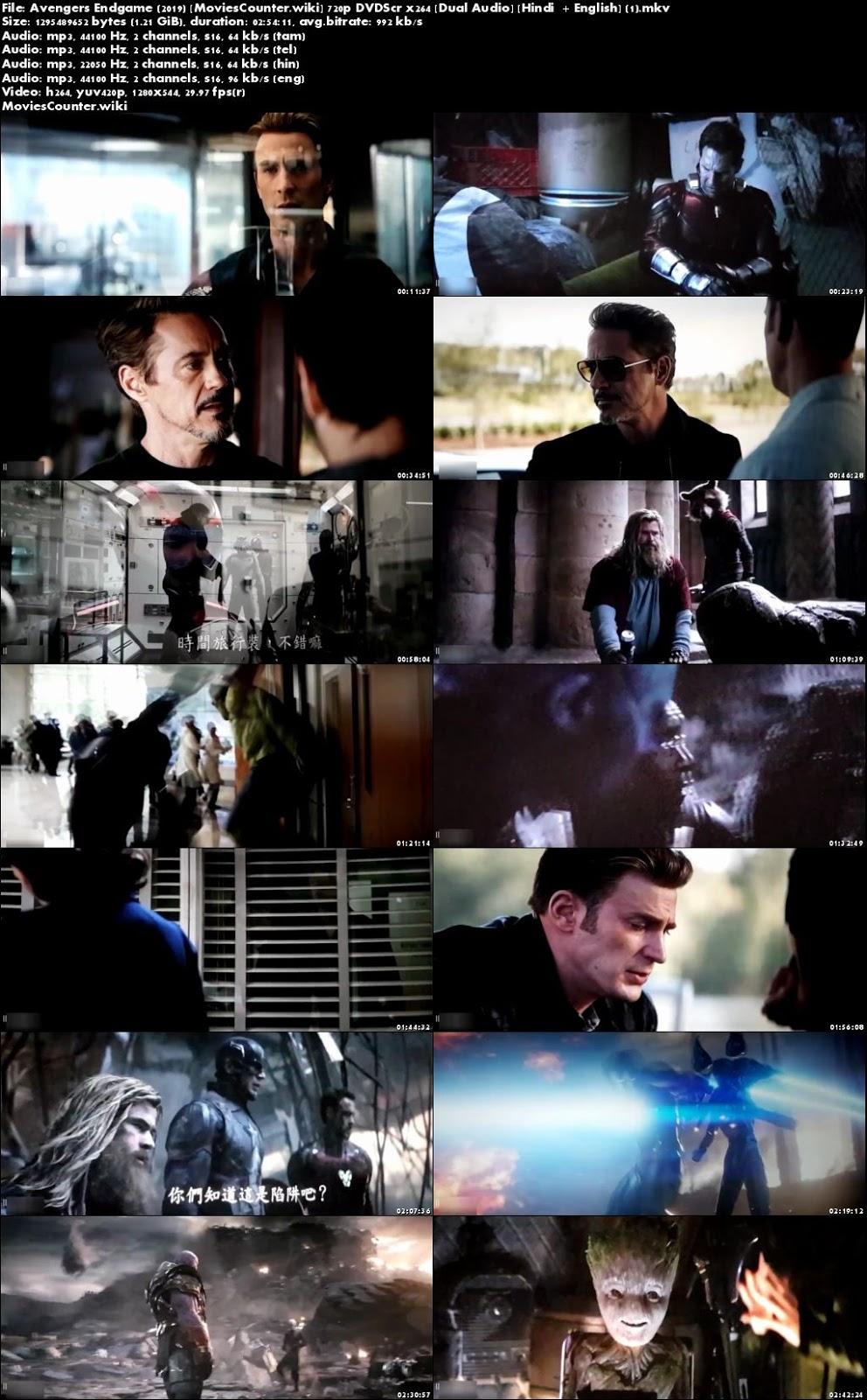 Screen Shots Avengers: Endgame 2019 Dual Audio HD 720p