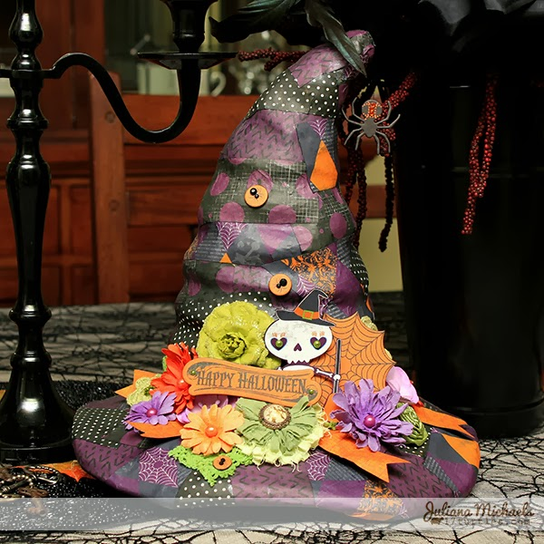 Halloween Witches Hat on Dining Room Table by Juliana Michaels
