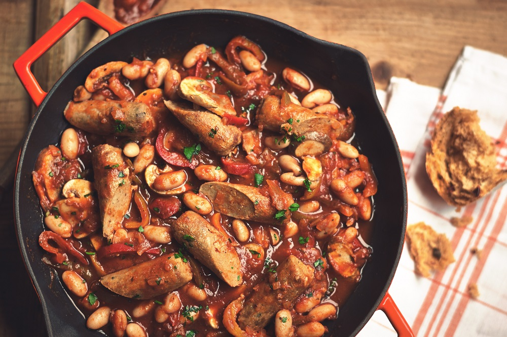 Quorn Sausage And Beans Casserole