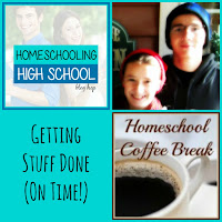 Homeschooling High School - Getting Stuff Done (On Time!) on Homeschool Coffee Break @ kympossibleblog.blogspot.com #homeschool #highschool