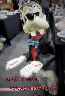 Figura de Goofy en el Desembalaje de Bilbao en Bilbao Exhibition Center