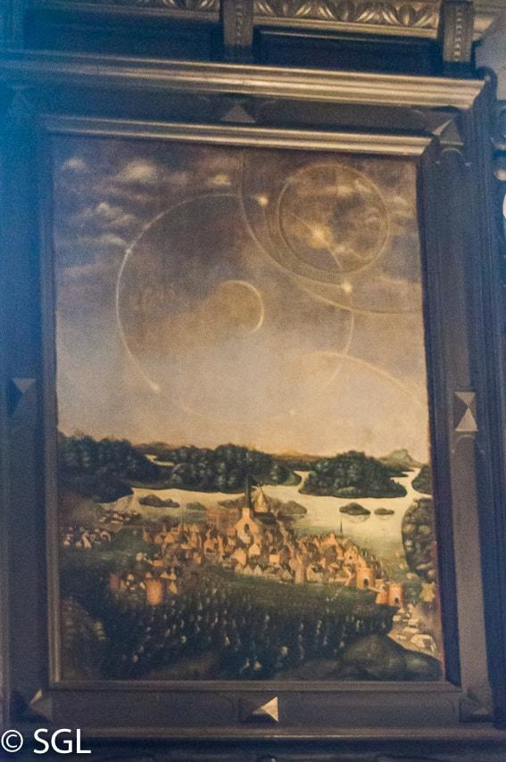 Cuadro de Parhelio en la catedral de Estocolmo. Suecia