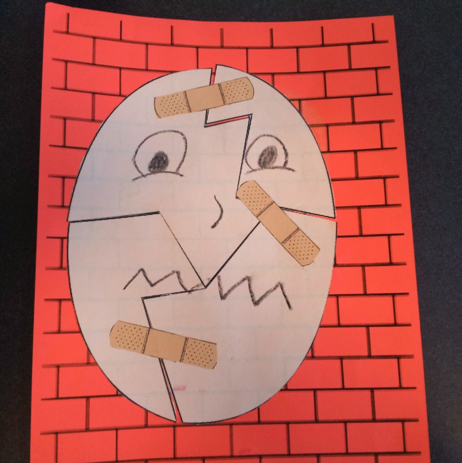 What happens in storytime mother goose for Humpty dumpty puzzle template