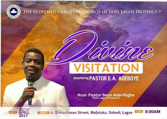Plan to Attend 'Divine Visitation' - Ministering Pastor E.A. Adeboye