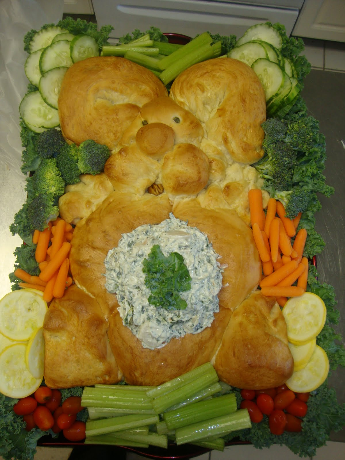 Thrifty Craft Ideas Easy Easter Bunny Bread With Veggies Dip