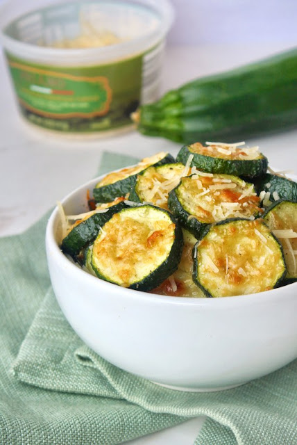 Roasted Garlic Parmesan Zucchini by Byte Sized Nutrition