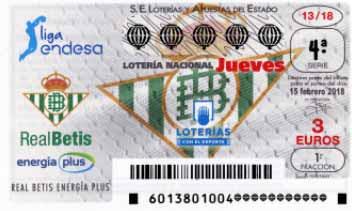 decimos de loteria nacional del jueves 15 febrero
