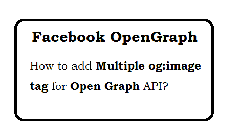 Facebook open graph multiple images