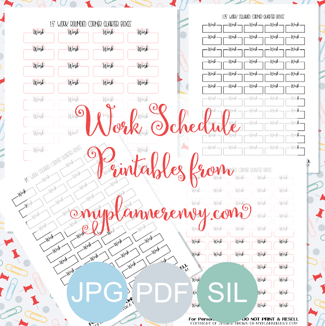 Free Printable Work Schedule Quarter Box Printables from myplannerenvy.com