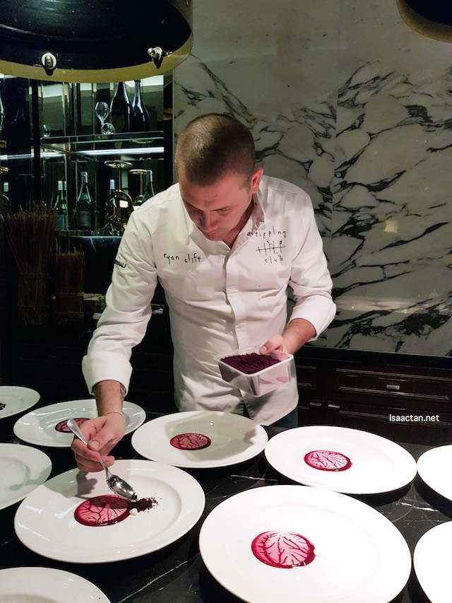Chef Ryan Clift of the Tippling Club, Singapore, doing his magic