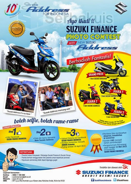 Kontes Foto Berhadiah Motor Suzuki Burgman & 3 Motor Lain