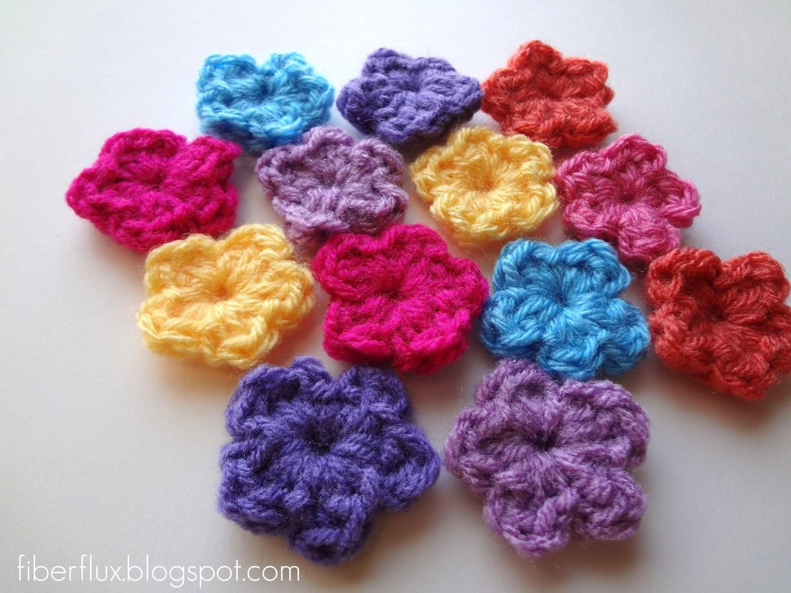Fiber Flux: Free Crochet Pattern...One Round Flowers
