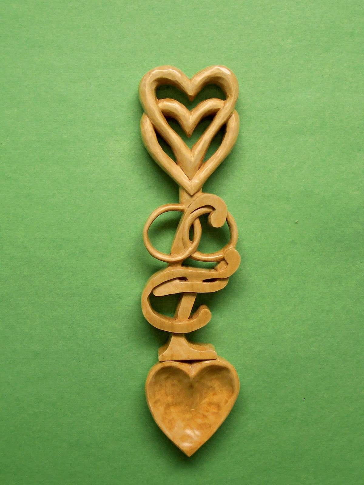Carvin tom s woodcarving my latest lettered lovespoon