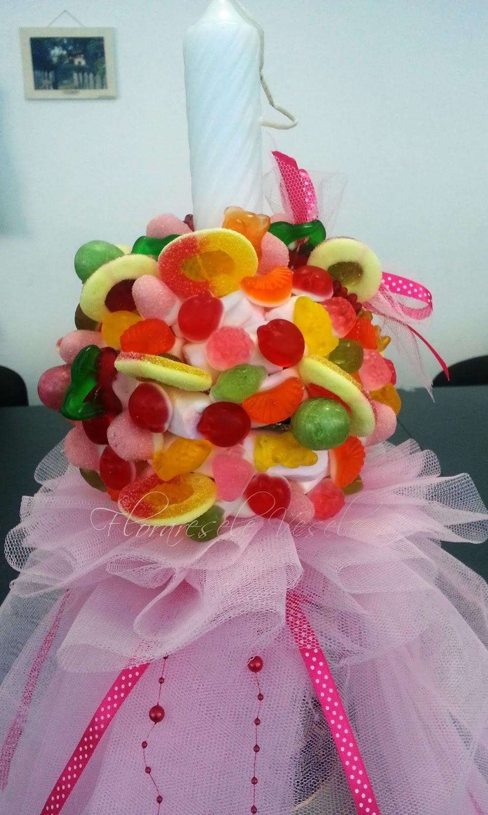 Floraresele Vesele Candy Girl Aranjament Pentru Lumanare De