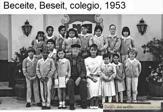 Beceite, Beseit, colegio, 1953, todocolección