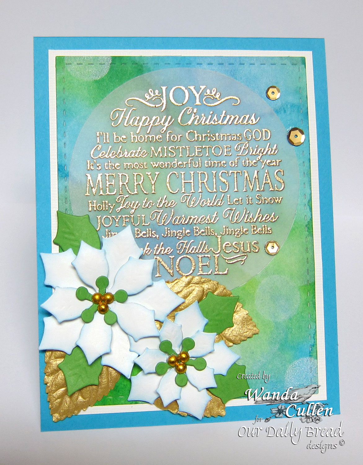 Stamps - Our Daily Bread Designs Noel Ornament, ODBD Custom Peaceful Poinsettias Dies