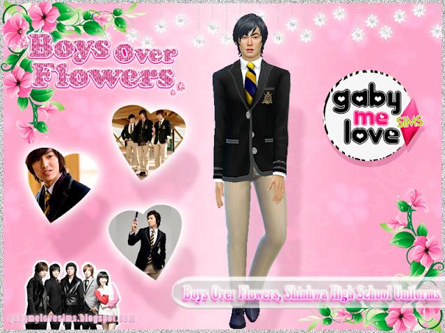 Boys Over Flowers, Shinhwa High School Uniforms - Masculino, Sims 4 (Jun Pyo)