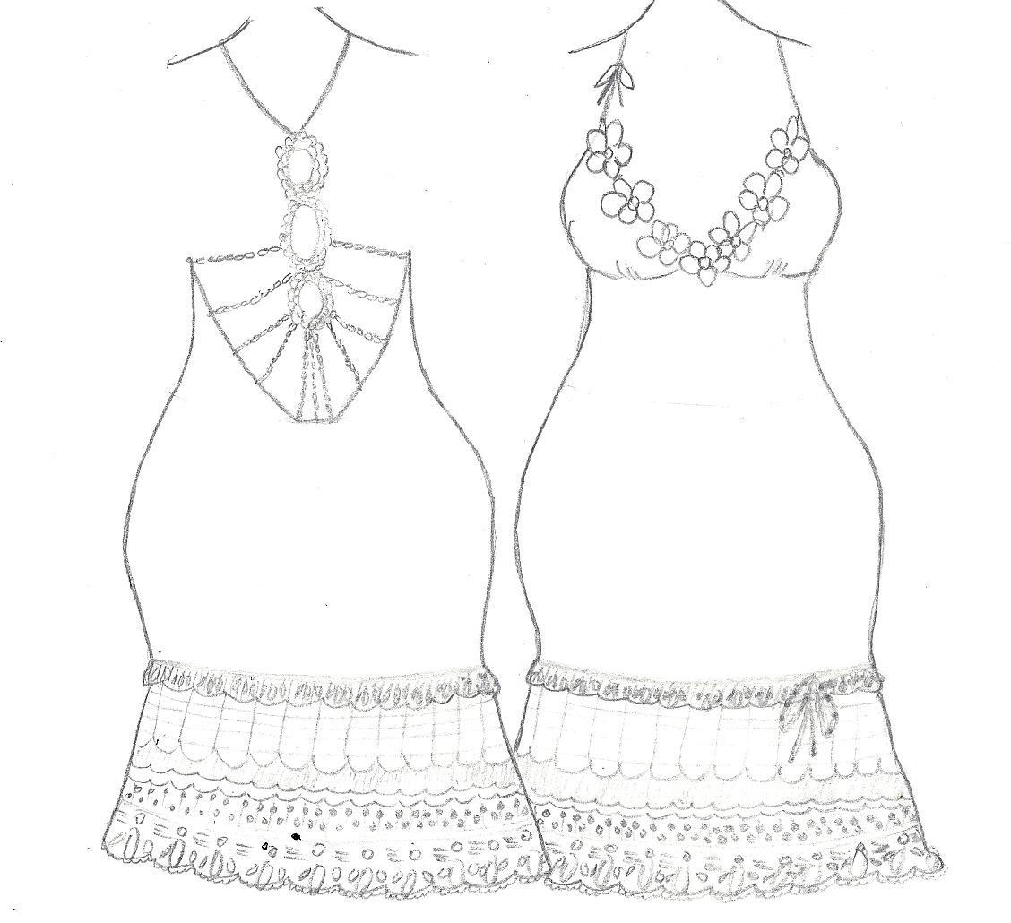 Paper Doll Eve Fashion Designer Dresses Design