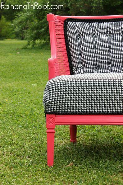 Vintage Coral Chair