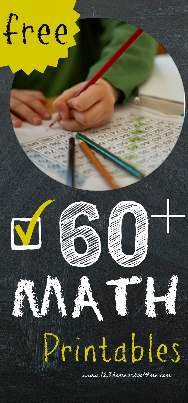 60+ Free Math Worksheets & Games for Preschool-4th Grade covering addition, subtraction, multiplication, division, place value, and more!